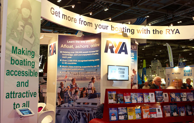 RYA London Boat Show stand