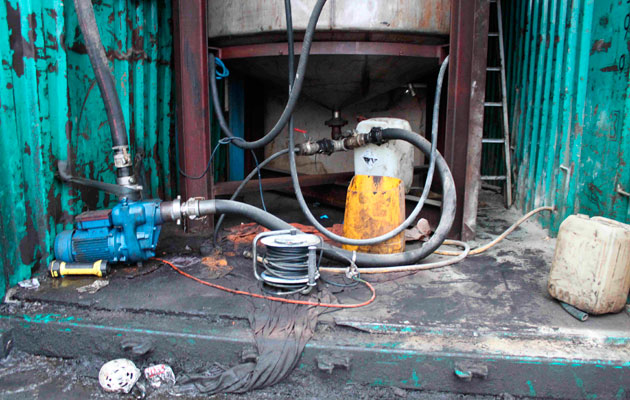 Red diesel laundering plant