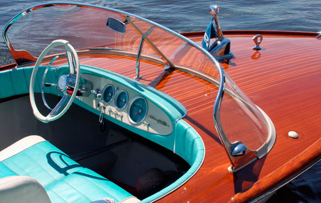 Vintage 1960s Riva Junior for sale at London Boat Show 2015