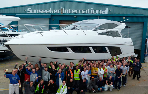 first Sunseeker Predator 57 leaves Poole factory