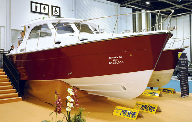 Jersey 36 at the 2015 London Boat Show