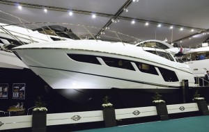 Sunseeker Predator 57 at the 2015 CWM FX London Boat Show