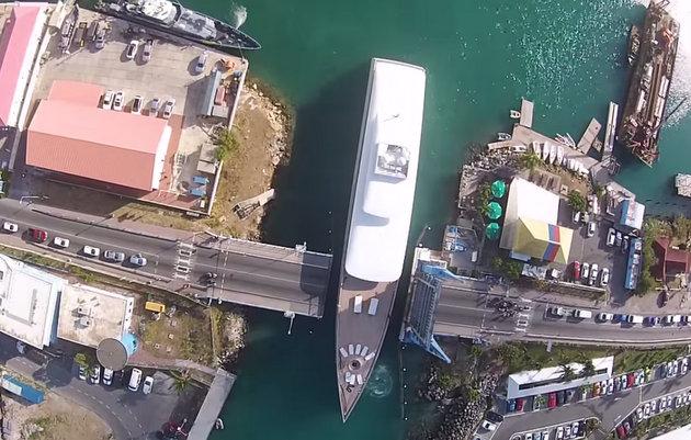 Steve Jobs yacht Venus drone footage