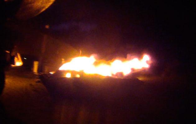 Hinckley T34 marina fire