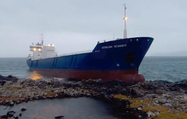 Lysblink Seaways aground on Mull