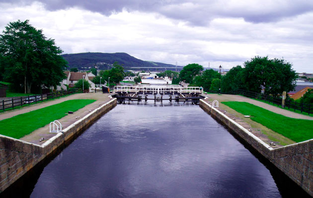 Muirtown Locks on the Caledonian Canal, near Inverness