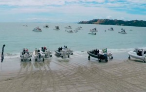 Sealegs amphibious boats race