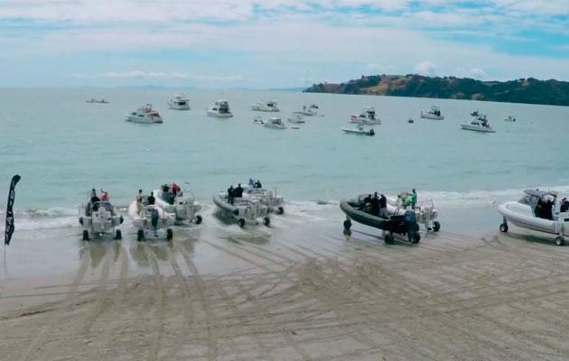 Sealegs amphibious boats race