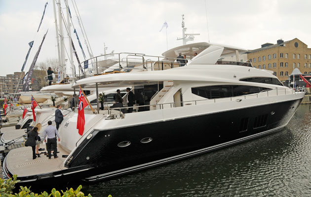 Princess 98 at the London Yacht, Jet and Prestige Car Show