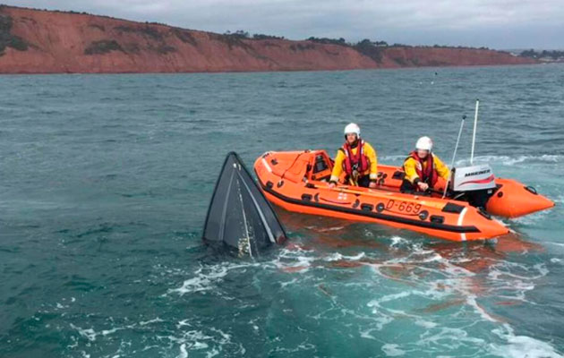 Exmouth RNLI sinking