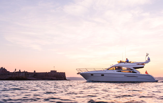 Jersey hotel Longueville Manor Yacht charter service