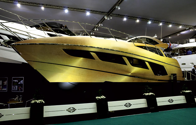 Sunseeker Predator 57 in gold