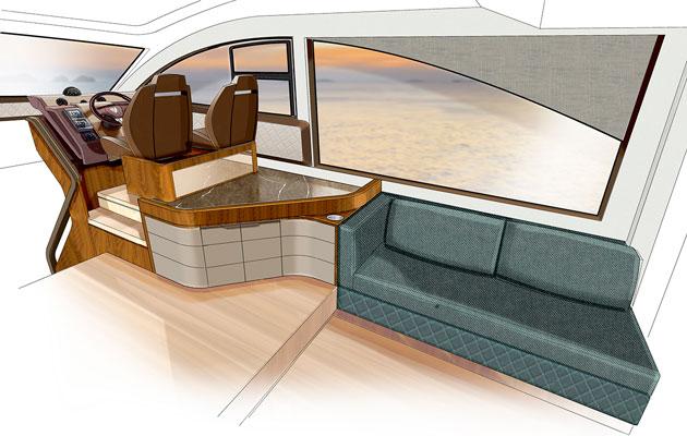 Fairline Targa 53 - Saloon Starboard
