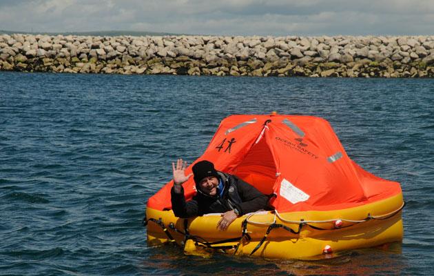 Wayne Ingram afloat Portland Marina