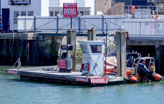 Red diesel fuel pontoon