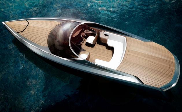 Aston Martin powerboat - top open