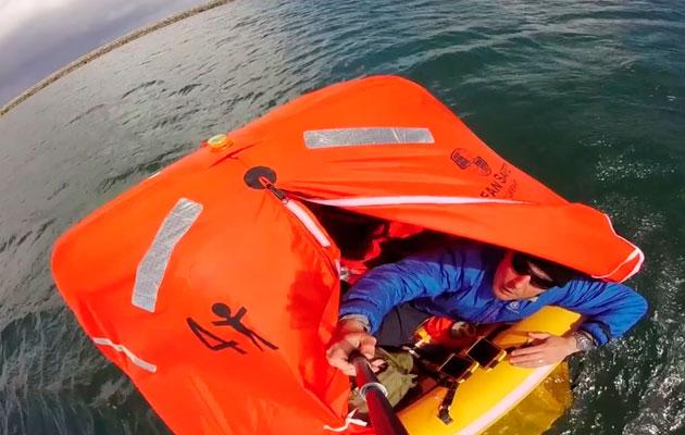 Liferaft survival video