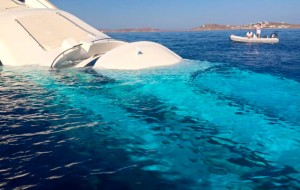Greek superyacht sinks