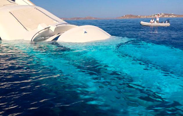 Greek superyacht sinks