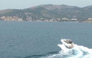 Mallorca to the UK Part 1 - video grab Princess V39