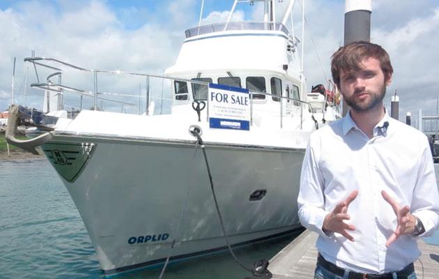 Nordhavn 40 Used Boat vid splash