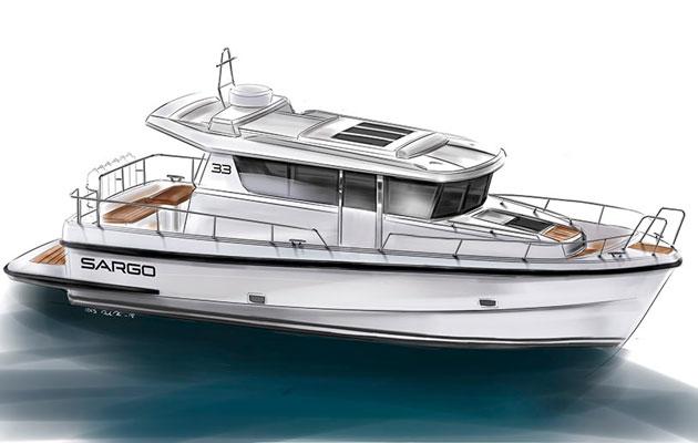 Sargo 33 - starboard view