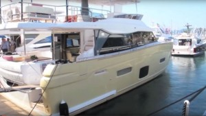 The Azimut Magellano 66 at the Cannes Boat Show