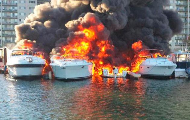 Marina fire Boston