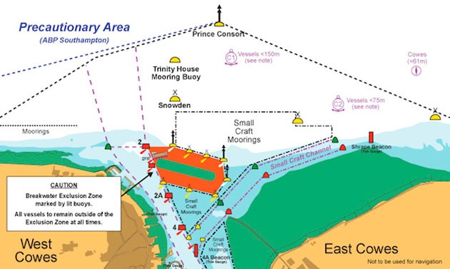 Cowes Breakwater - exclusion zone