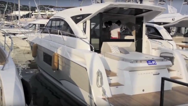 Jeanneau Leader 46 from the Cannes Boat Show