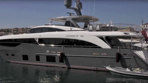 Princess 35M from the Cannes Boat Show
