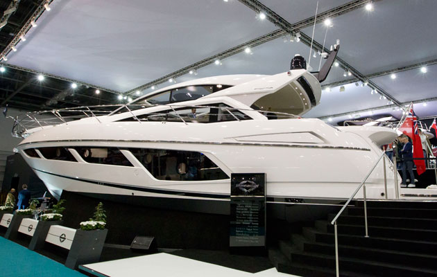 Sunseeker stand at London Boat Show 2015