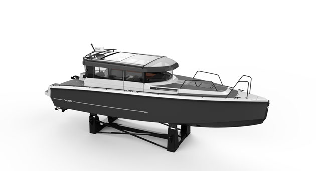 Like all XO boats, the hull is aluminium and the decks a GRP