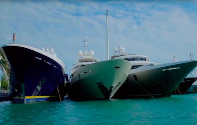 Million pound mega yachts