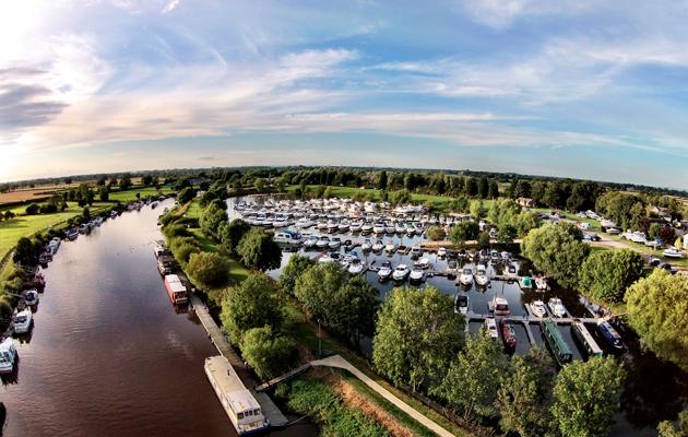 York Marina - aerial shot