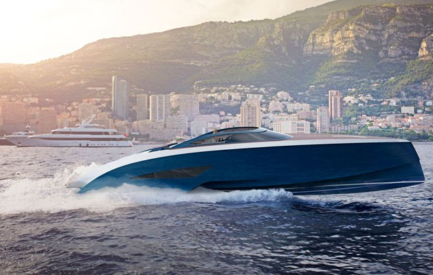 bugatti speedboat concept designedpalmer johnson - motor boat