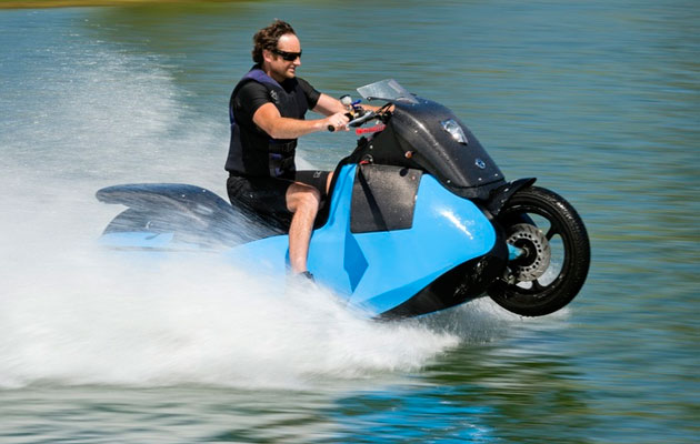 Video Gibbs Amphibians Launches New Jetski Motorbike