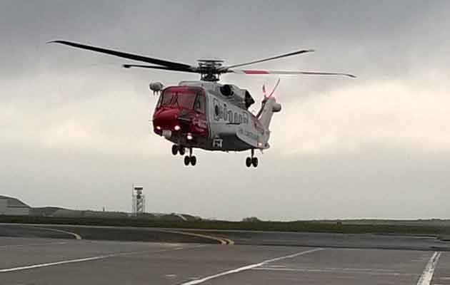 Newquay Coastguard helicopter launch Bristow
