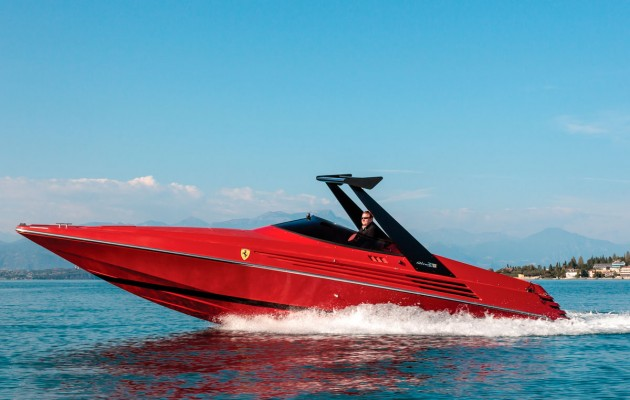 1990 Riva Ferrari 32 - portside