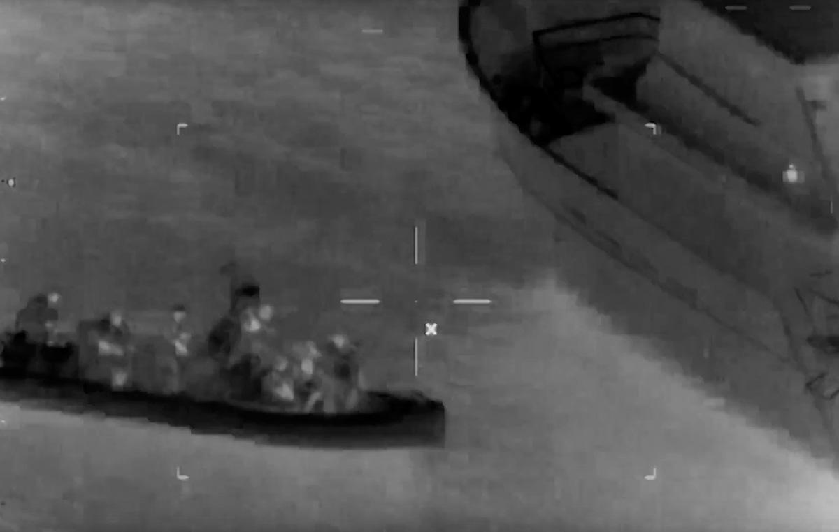 Sinking speedboat Coastguard rescue