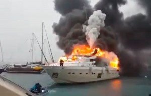 Turkish superyacht fire