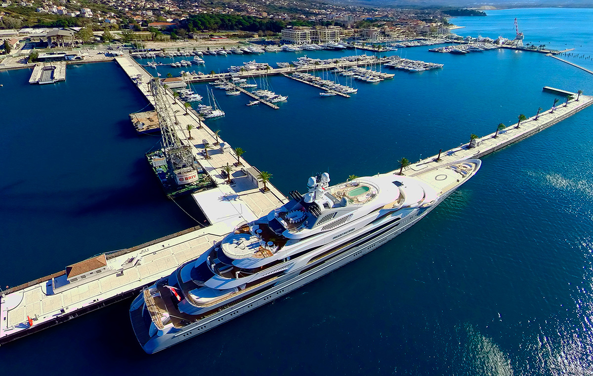 Porto Montenegro - site of the world's largest superyacht berth