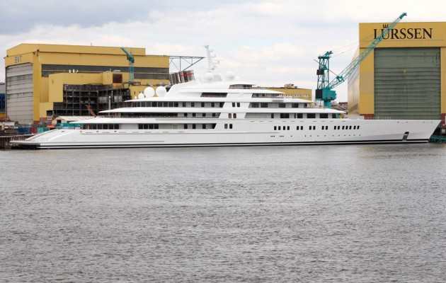 Azzam - the world's largest superyacht on of many belonging to Middle Eastern owners