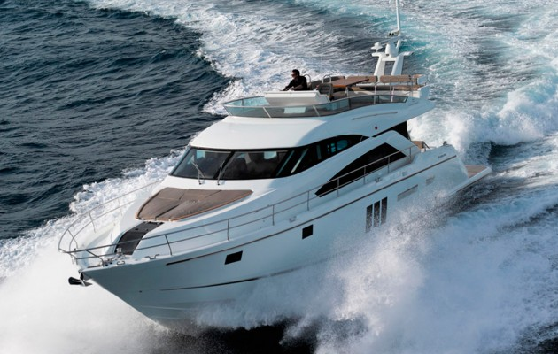 Fairline Squadron 60, heading to the 2016 British Motor Yacht Show