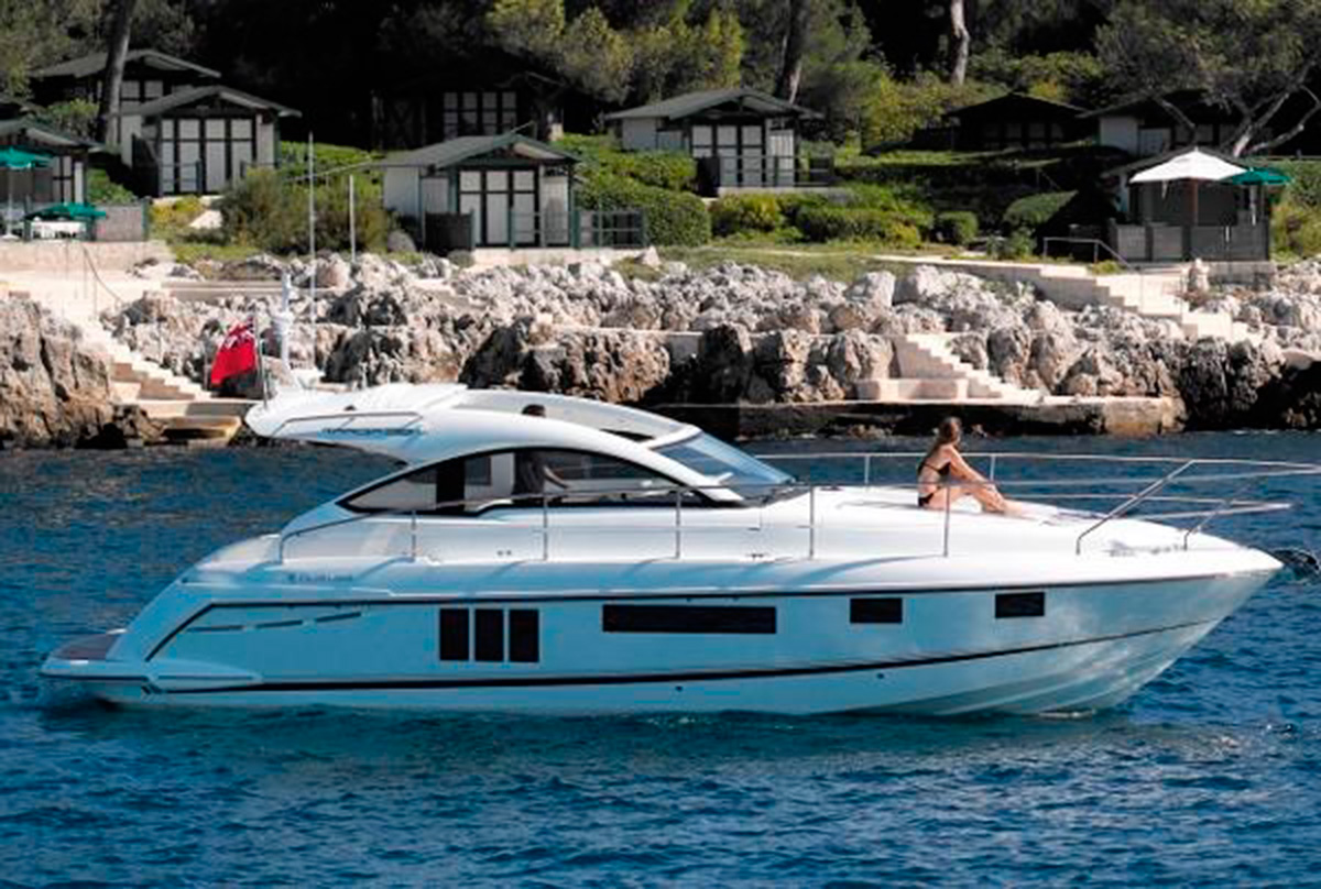 The Fairline Targa 38, which is due to go on display at the London On-Water Boat Show