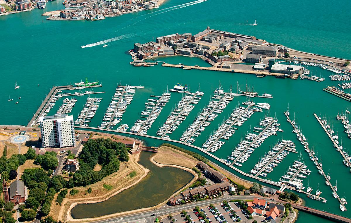 Haslar marina Boat Show Aerial 2013