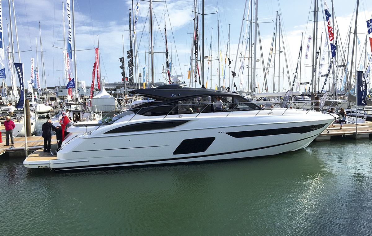 Princess V58 Open at 2015 Southampton Boat Show bought on a whim