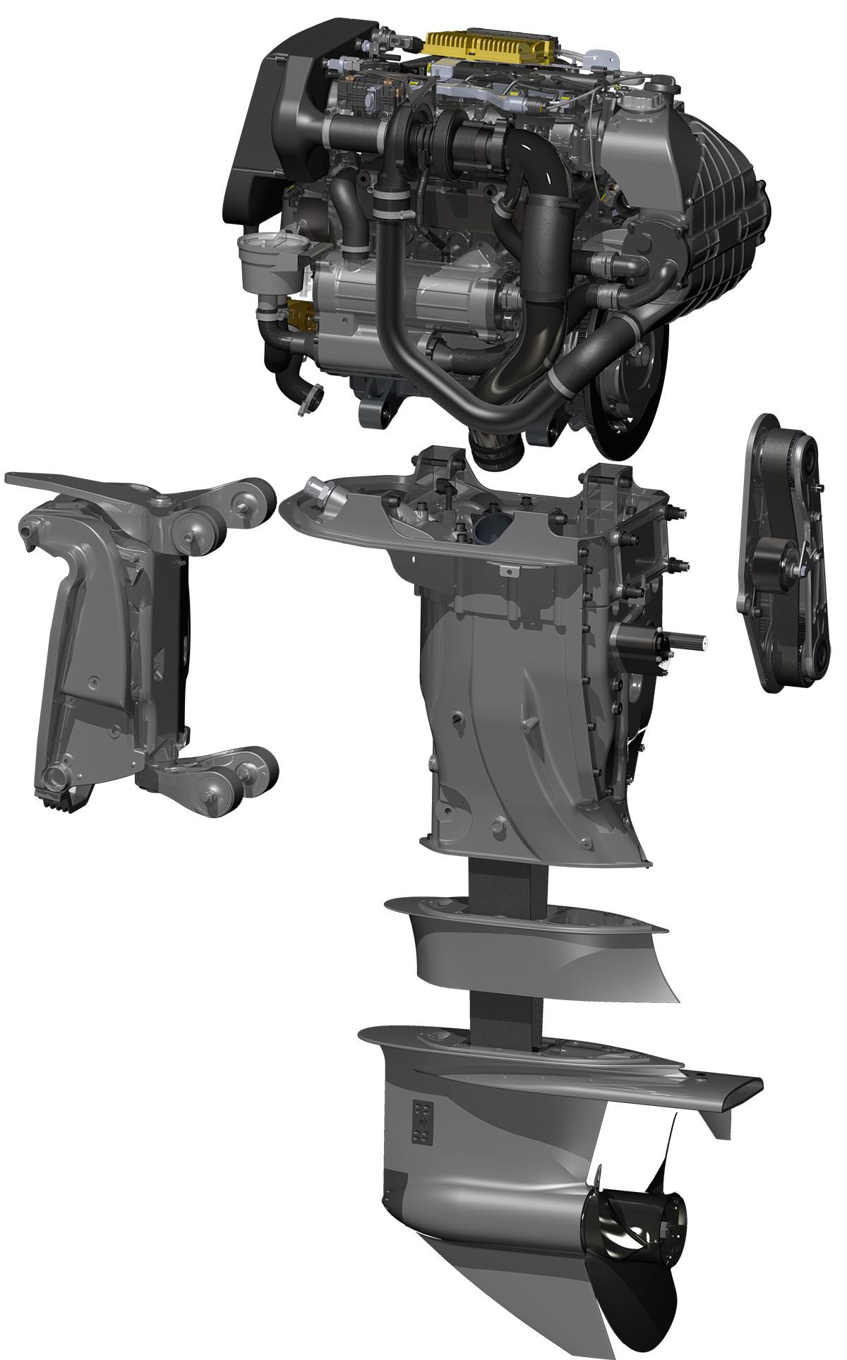 Diesel Outboard Motor : Oxe hp diesel outboard engine tested motor boat