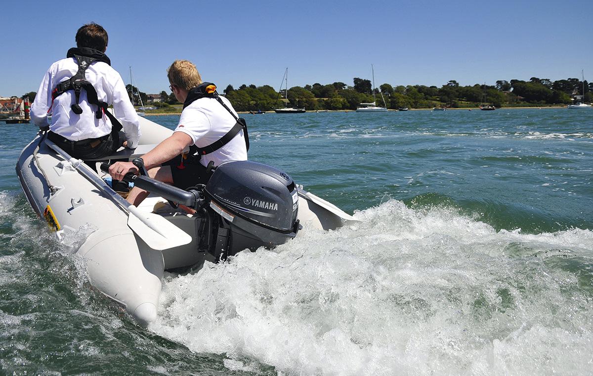 Yamaha 9.9hp outboard - running shot