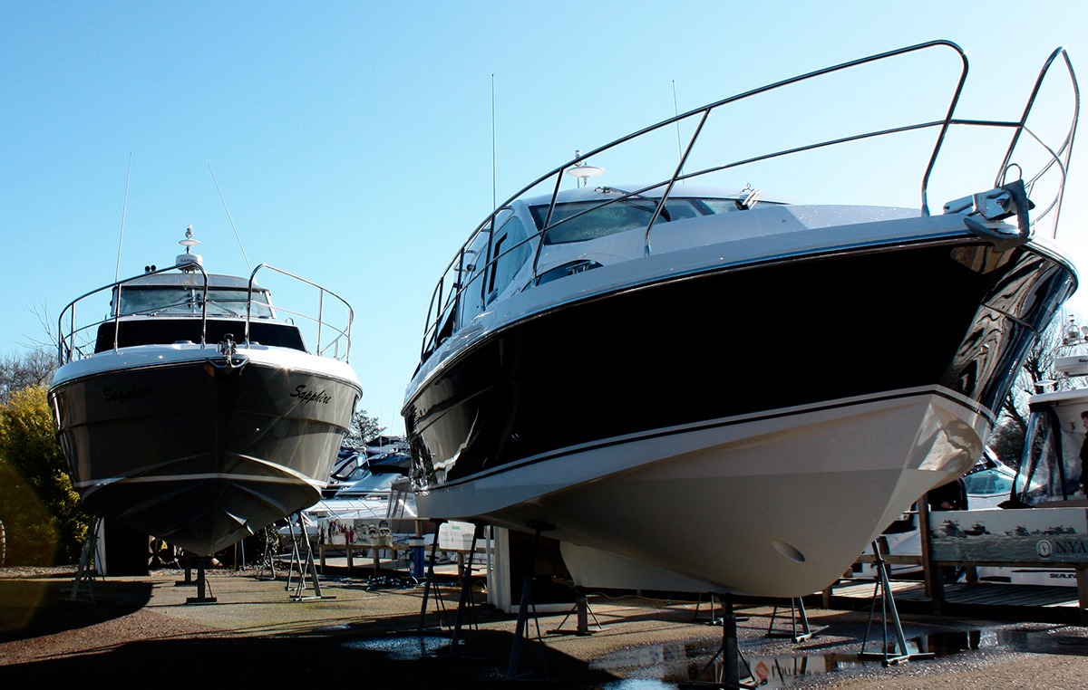 Haines boats on display at Norfolk Yacht Agency, Haines Boat Show